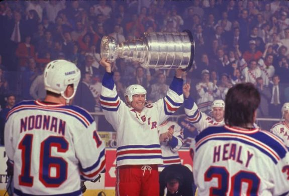 Mark Messier of the New York Rangers