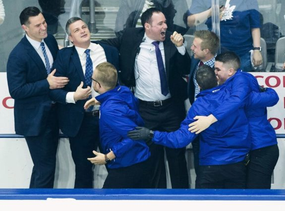 Toronto Marlies head coach Sheldon Keefe