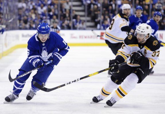 Toronto Maple Leafs Mitch Marner Boston Bruins Patrice Bergeron