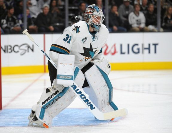 Martin Jones had a monstrous start (Gary A. Vasquez-USA TODAY Sports)
