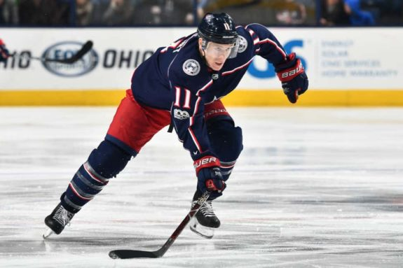 Matt Calvert Columbus Blue Jackets