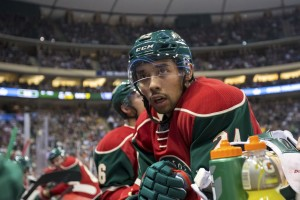 Matt Dumba started off the scoring for Minnesota. (Brad Rempel-USA TODAY Sports)