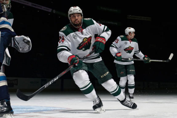 Matt Dumba #24 of the Minnesota Wild