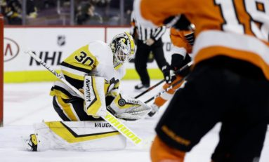 Penguins Power Past Flyers - Murray Saves 50