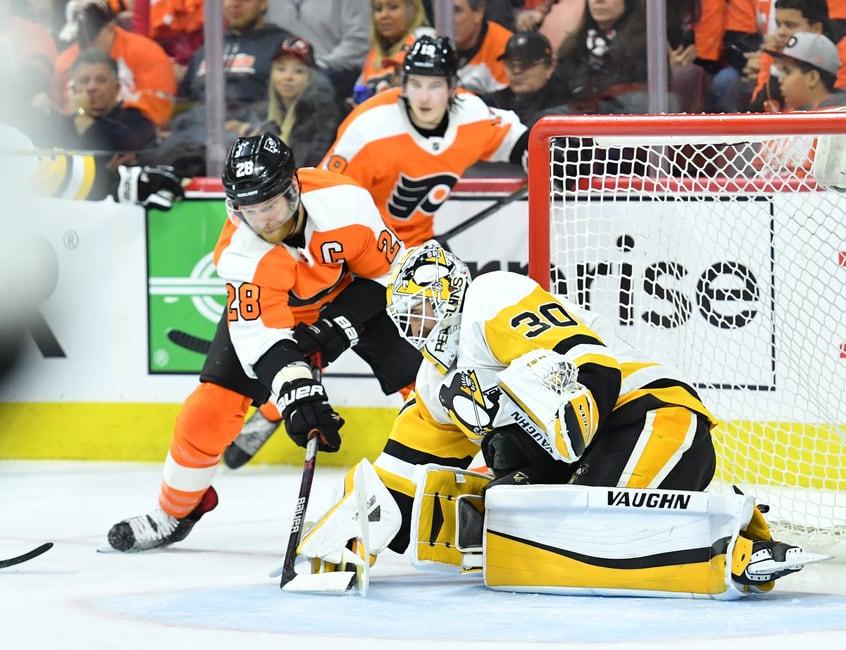 Matt Murray Penguins Claude Giroux Flyers