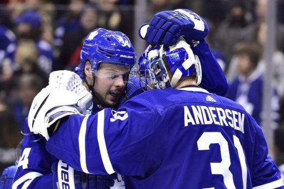 Toronto Maple Leafs Frederik Andersen Auston Matthews