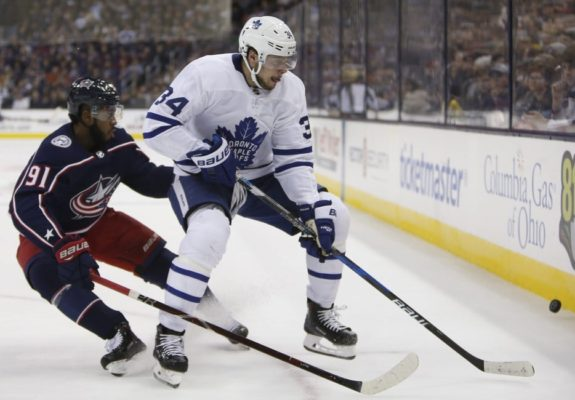 Toronto Maple Leafs' Auston Matthews Columbus Blue Jackets' Anthony Duclair