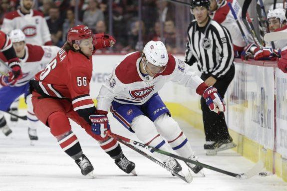 Carolina Hurricanes Erik Haula Montreal Canadiens Max Domi