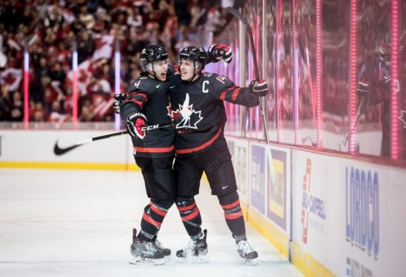 Team Canada Jared McIsaac and Maxime Comtois