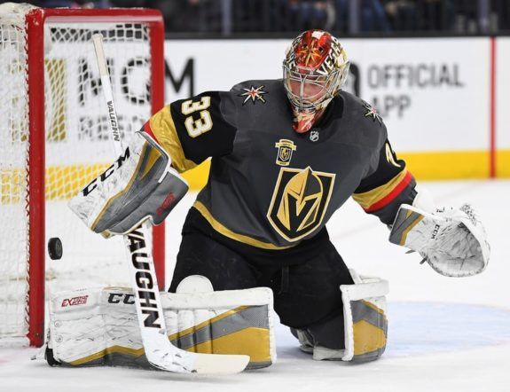 Golden Knights goaltender Maxime Lagace