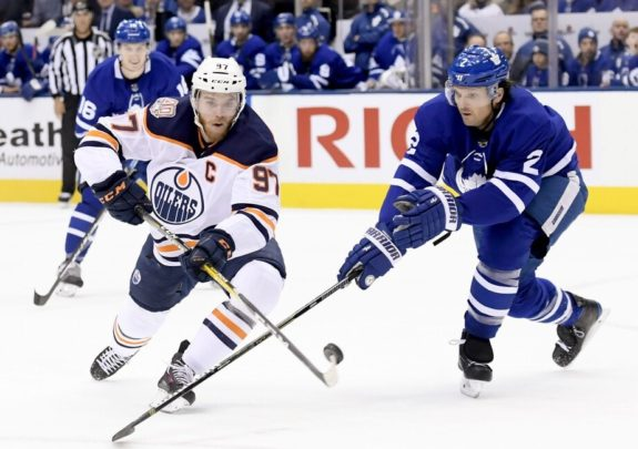 Edmonton Oilers Connor McDavid Toronto Maple Leafs Ron Hainsey