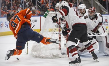 Coyotes Cap Oilers - Garland Nets Two