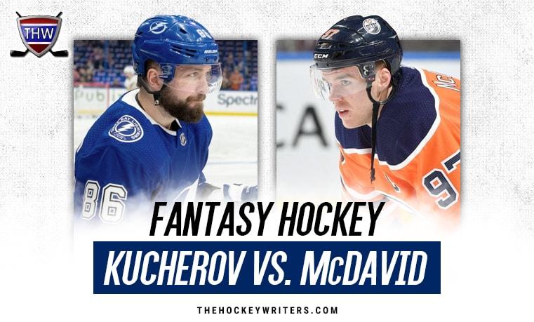 Connor McDavid Edmonton Oilers Nikita Kucherov Tampa Bay Lightning
