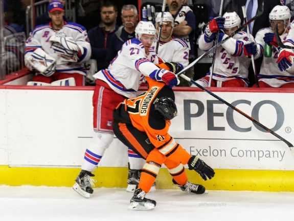 Ryan McDonagh, Wayne Simmonds (Amy Irvin / The Hockey Writers)