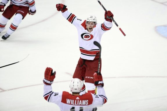 Carolina Hurricanes Brock McGinn Justin Williams