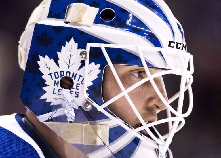 Toronto Maple Leafs goalie Michael Hutchinson
