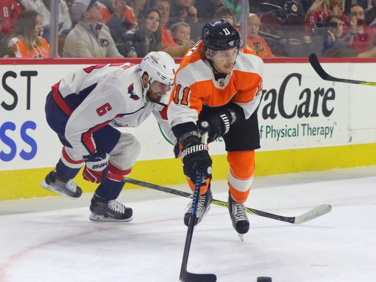 Michal Kempny Capitals Travis Konecny Flyers