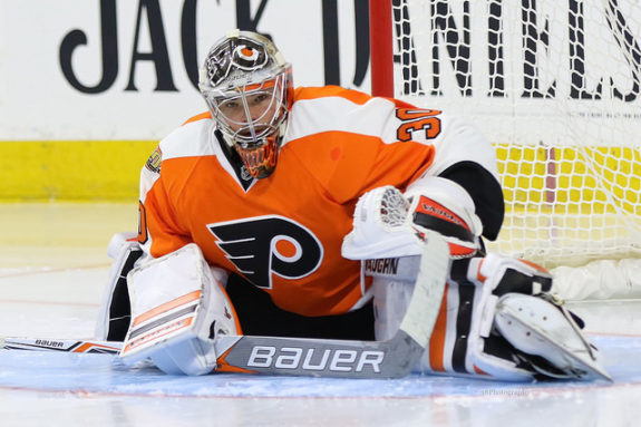 (Amy Irvin/The Hockey Writers) Michal Neuvirth was great in the playoffs for Philadelphia, but the Flyers haven't been getting very good goaltending in the early stages of this season. Neither Neuvirth nor Steve Mason have emerged as their go-to starter.