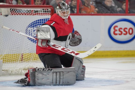 Senators goalie Mike Condon