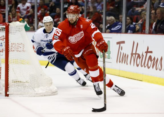 Defenseman Mike Green of the Detroit Red Wings.