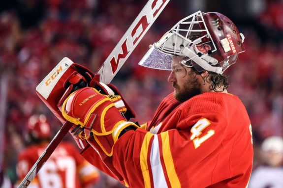 Calgary Flames Goalie Mike Smith
