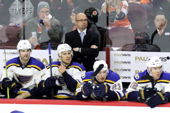 Blues Coach Mike Yeo