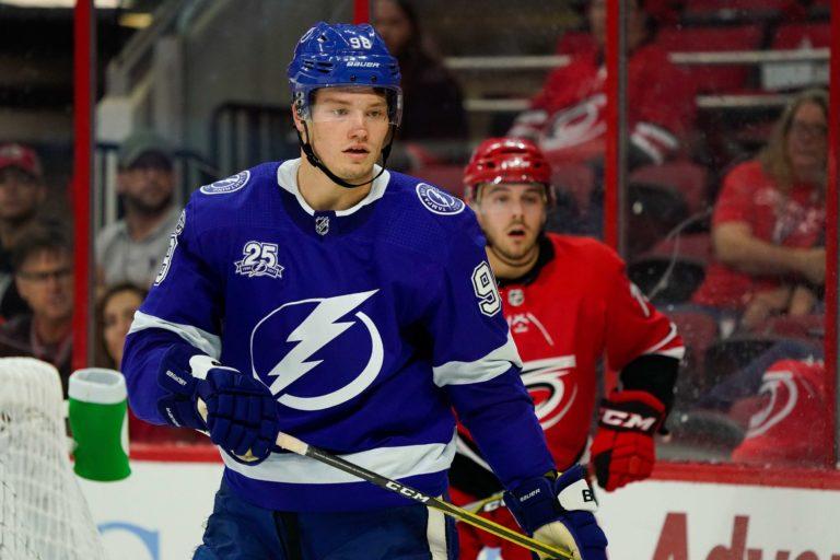 Tampa Bay Lightning defensemen Mikhail Sergachev