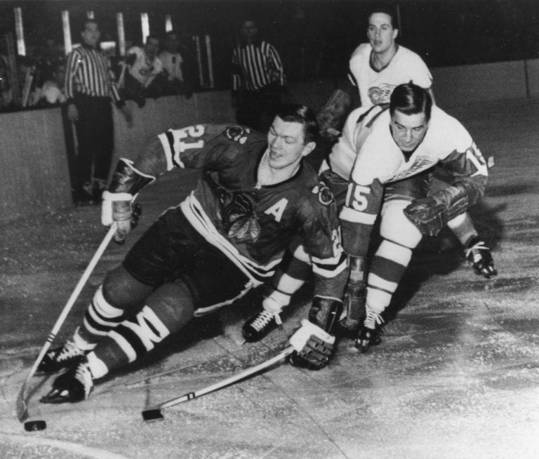 Chicago Blackhawks Stan Mikita Detroit Red Wings Ted Lindsay