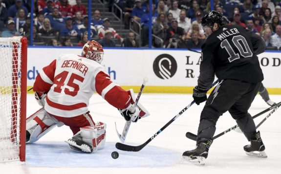 Detroit Red Wings Jonathan Bernier Tampa Bay Lightning J.T. Miller
