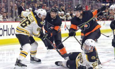 Flyers' Laughton Steps Up Offensively in Round Robin