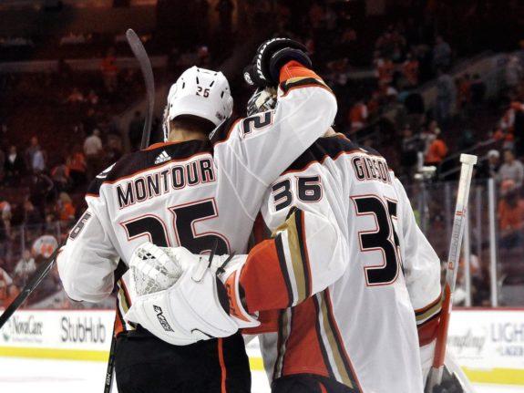 Brandon Montour John Gibson Anaheim Ducks