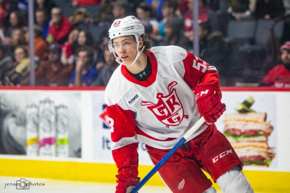 Detroit Red Wings prospect Moritz Seider.