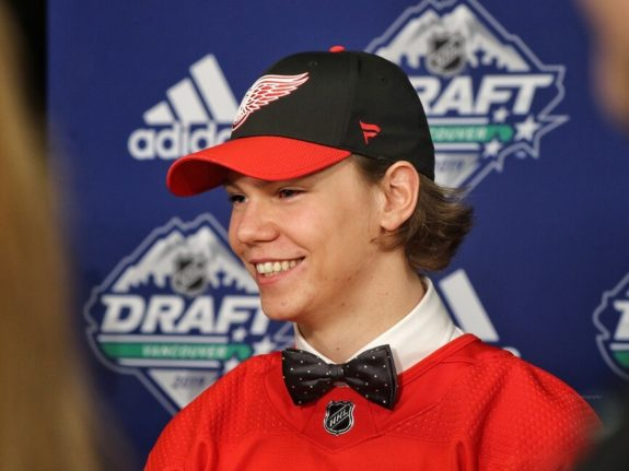 Moritz Seider Red Wings Draft
