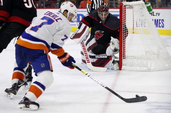 Carolina Hurricanes Petr Mrazek New York Islanders Jordan Eberle