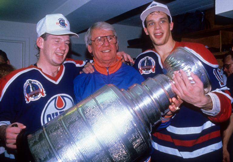 Mark Lamb John Muckler Kelly Buchberger Edmonton Oilers