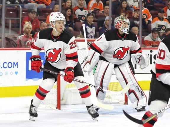 Mirco Mueller Keith Kinkaid New Jersey Devils