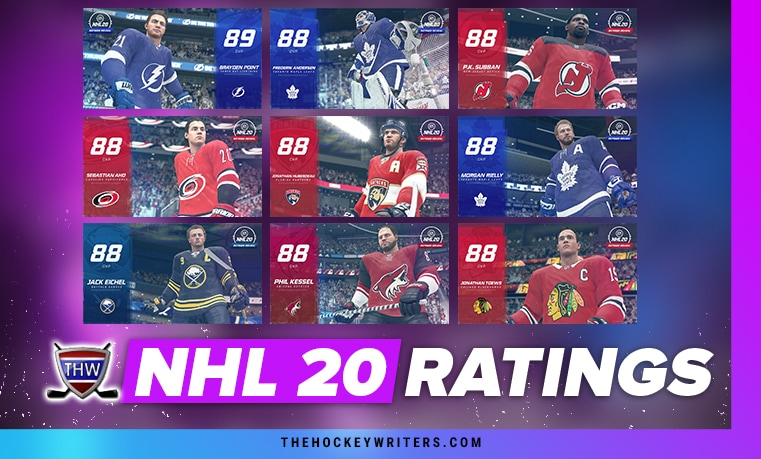 EA Sports NHL 20 Ratings 88 - 89