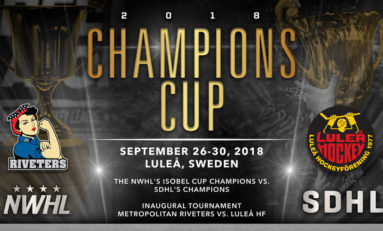 NWHL Announces Champions Cup vs. SDHL in Sweden