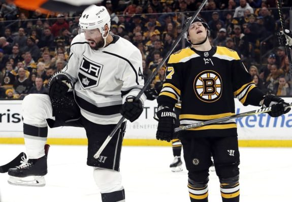 Los Angeles Kings' Nate Thompson Boston Bruins' Torey Krug