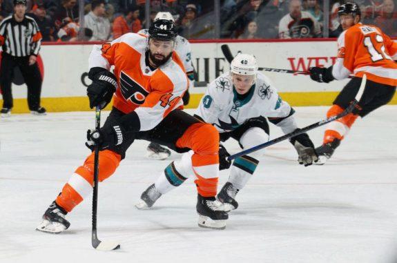 Nate Thompson Philadelphia Flyers New York Rangers Free Agent Option