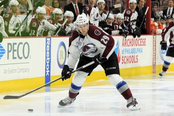 (Amy Irvin/The Hockey Writers) Nathan MacKinnon is going to be a very valuable fantasy player in the future. He's a budding star for the Colorado Avalanche who is still struggling with consistency in his third season in the league. But when he's on his game, MacKinnon is definitely a difference-maker for the Avs and for your fantasy team.