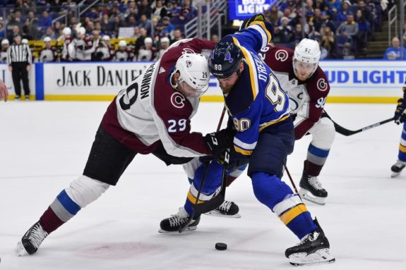 Colorado Avalanche Nathan MacKinnon St. Louis Blues Ryan O'Reilly