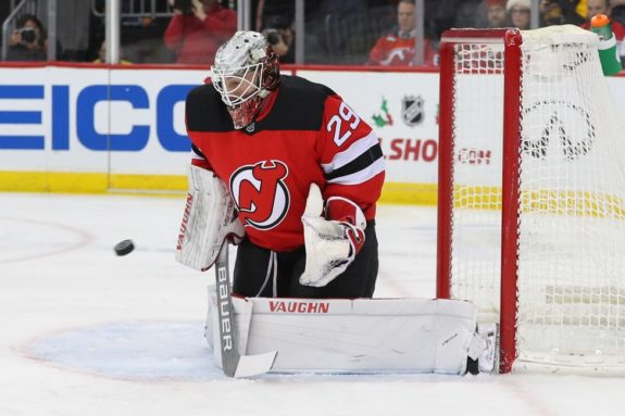New Jersey Devils goaltender Mackenzie Blackwood