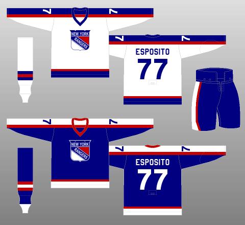 New York Rangers 1977-78 Jerseys