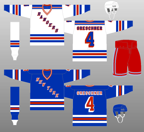 New York Rangers 1978-87 Jerseys