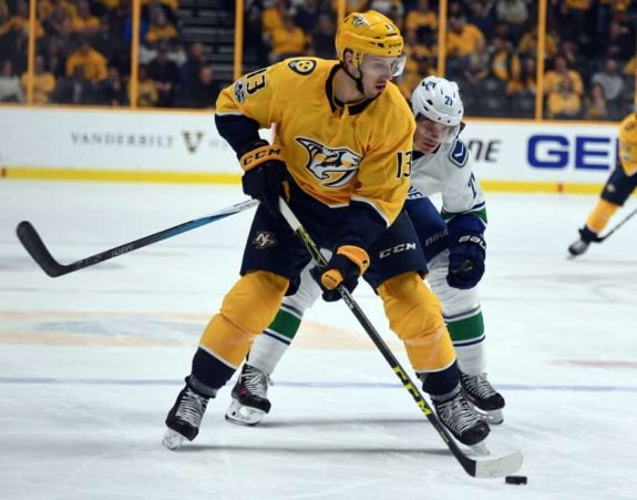 Nashville Predators center Nick Bonino
