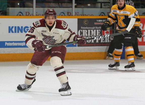 Nick Robertson of the Peterborough Petes
