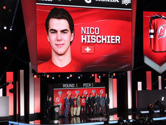 Nico Hischier at the 2017 NHL Draft