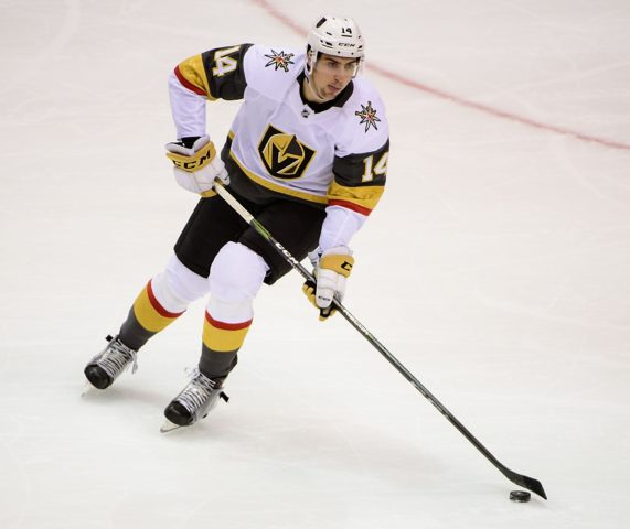 Las Vegas Knights defenseman Nicolas Hague