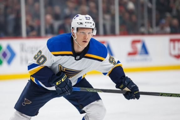 Blues forward Nikita Soshnikov